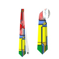 3d Shapes Necktie by LalyLauraFLM
