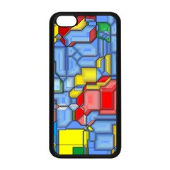 3d Shapes apple Iphone 5c Seamless Case (black) by LalyLauraFLM