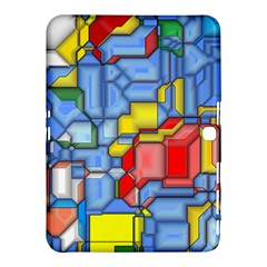 3d Shapes 			samsung Galaxy Tab 4 (10 1 ) Hardshell Case by LalyLauraFLM