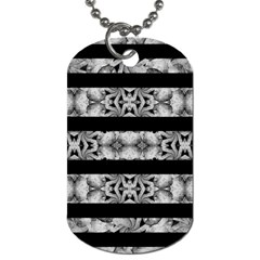 Alien Seamless Stripes Dog Tag (two Sides) by dflcprints