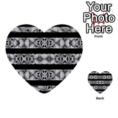 Alien Seamless Stripes Multi Purpose Cards (heart)  by dflcprints