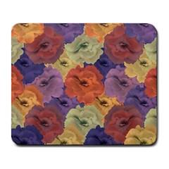 Vintage Floral Collage Pattern Large Mousepads by dflcprints