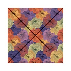 Vintage Floral Collage Pattern Acrylic Tangram Puzzle (6  x 6 ) by dflcprints