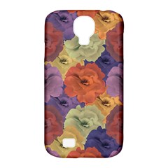 Vintage Floral Collage Pattern Samsung Galaxy S4 Classic Hardshell Case (pc+silicone) by dflcprints