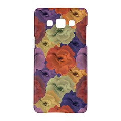 Vintage Floral Collage Pattern Samsung Galaxy A5 Hardshell Case  by dflcprints