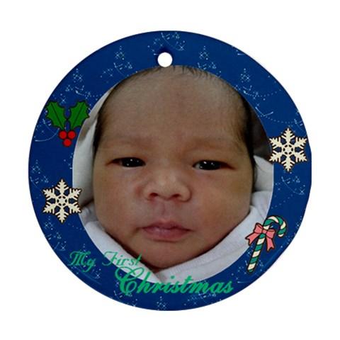 Artheo By Shena Plasabas   Ornament (round)   Vqsqep5qiwxl   Www Artscow Com Front