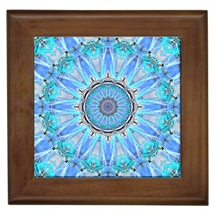 Sapphire Ice Flame, Light Bright Crystal Wheel Framed Tiles by DianeClancy