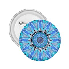 Sapphire Ice Flame, Light Bright Crystal Wheel 2 25  Buttons by DianeClancy