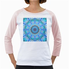 Sapphire Ice Flame, Light Bright Crystal Wheel Girly Raglans by DianeClancy