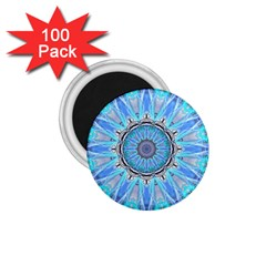 Sapphire Ice Flame, Light Bright Crystal Wheel 1 75  Magnets (100 Pack)  by DianeClancy