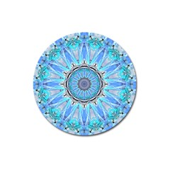 Sapphire Ice Flame, Light Bright Crystal Wheel Magnet 3  (round) by DianeClancy