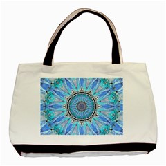 Sapphire Ice Flame, Light Bright Crystal Wheel Basic Tote Bag by DianeClancy