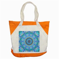 Sapphire Ice Flame, Light Bright Crystal Wheel Accent Tote Bag by DianeClancy