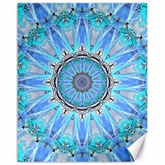 Sapphire Ice Flame, Light Bright Crystal Wheel Canvas 16  X 20   by DianeClancy