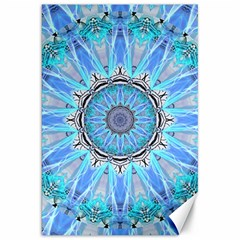 Sapphire Ice Flame, Light Bright Crystal Wheel Canvas 20  X 30   by DianeClancy