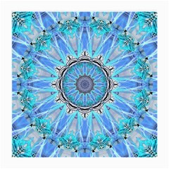 Sapphire Ice Flame, Light Bright Crystal Wheel Medium Glasses Cloth (2 Side) by DianeClancy
