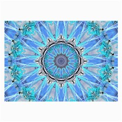 Sapphire Ice Flame, Light Bright Crystal Wheel Large Glasses Cloth (2 Side) by DianeClancy