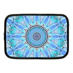 Sapphire Ice Flame, Light Bright Crystal Wheel Netbook Case (medium)  by DianeClancy