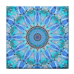Sapphire Ice Flame, Light Bright Crystal Wheel Face Towel by DianeClancy