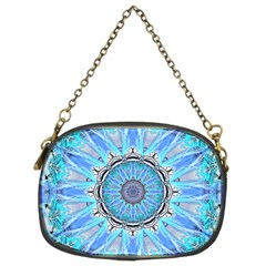 Sapphire Ice Flame, Light Bright Crystal Wheel Chain Purses (two Sides)  by DianeClancy