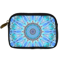 Sapphire Ice Flame, Light Bright Crystal Wheel Digital Camera Cases by DianeClancy