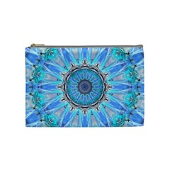Sapphire Ice Flame, Light Bright Crystal Wheel Cosmetic Bag (medium)  by DianeClancy