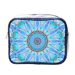 Sapphire Ice Flame, Light Bright Crystal Wheel Mini Toiletries Bags by DianeClancy