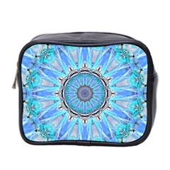 Sapphire Ice Flame, Light Bright Crystal Wheel Mini Toiletries Bag 2 Side by DianeClancy