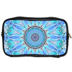 Sapphire Ice Flame, Light Bright Crystal Wheel Toiletries Bags by DianeClancy