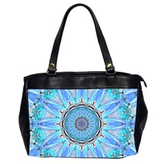 Sapphire Ice Flame, Light Bright Crystal Wheel Office Handbags (2 Sides)  by DianeClancy