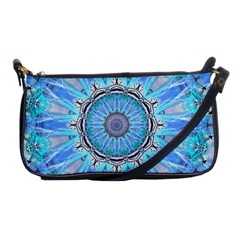 Sapphire Ice Flame, Light Bright Crystal Wheel Shoulder Clutch Bags by DianeClancy