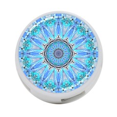 Sapphire Ice Flame, Light Bright Crystal Wheel 4 Port Usb Hub (two Sides)  by DianeClancy