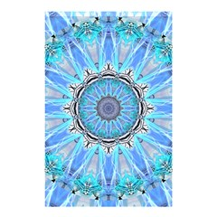 Sapphire Ice Flame, Light Bright Crystal Wheel Shower Curtain 48  X 72  (small)  by DianeClancy