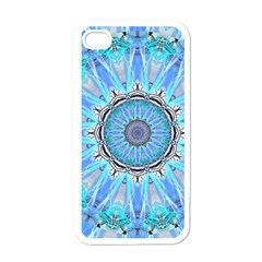 Sapphire Ice Flame, Light Bright Crystal Wheel Apple Iphone 4 Case (white) by DianeClancy