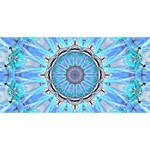 Sapphire Ice Flame, Light Bright Crystal Wheel Best Wish 3D Greeting Card (8x4)  Back