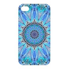 Sapphire Ice Flame, Light Bright Crystal Wheel Apple Iphone 4/4s Premium Hardshell Case by DianeClancy
