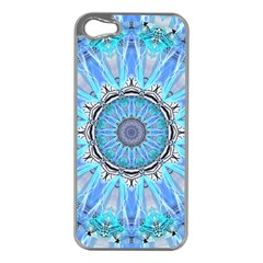 Sapphire Ice Flame, Light Bright Crystal Wheel Apple Iphone 5 Case (silver) by DianeClancy