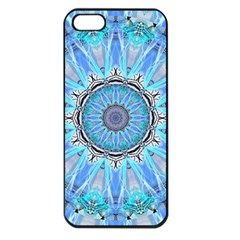 Sapphire Ice Flame, Light Bright Crystal Wheel Apple Iphone 5 Seamless Case (black) by DianeClancy