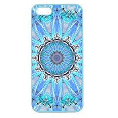 Sapphire Ice Flame, Light Bright Crystal Wheel Apple Seamless Iphone 5 Case (color) by DianeClancy