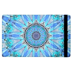 Sapphire Ice Flame, Light Bright Crystal Wheel Apple Ipad 3/4 Flip Case by DianeClancy