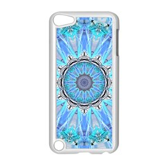 Sapphire Ice Flame, Light Bright Crystal Wheel Apple Ipod Touch 5 Case (white) by DianeClancy