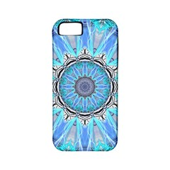 Sapphire Ice Flame, Light Bright Crystal Wheel Apple Iphone 5 Classic Hardshell Case (pc+silicone) by DianeClancy