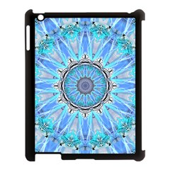Sapphire Ice Flame, Light Bright Crystal Wheel Apple Ipad 3/4 Case (black) by DianeClancy