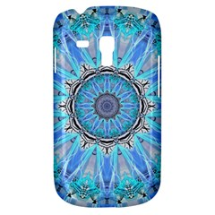 Sapphire Ice Flame, Light Bright Crystal Wheel Samsung Galaxy S3 Mini I8190 Hardshell Case by DianeClancy