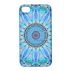 Sapphire Ice Flame, Light Bright Crystal Wheel Apple Iphone 4/4s Hardshell Case With Stand by DianeClancy