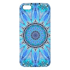 Sapphire Ice Flame, Light Bright Crystal Wheel Apple Iphone 5 Premium Hardshell Case by DianeClancy