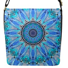 Sapphire Ice Flame, Light Bright Crystal Wheel Flap Messenger Bag (s) by DianeClancy