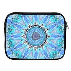 Sapphire Ice Flame, Light Bright Crystal Wheel Apple Ipad 2/3/4 Zipper Cases by DianeClancy