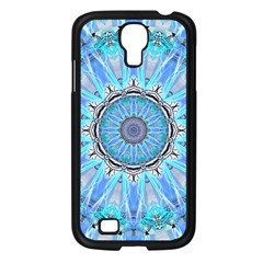 Sapphire Ice Flame, Light Bright Crystal Wheel Samsung Galaxy S4 I9500/ I9505 Case (black) by DianeClancy