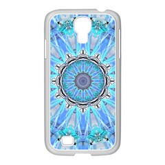 Sapphire Ice Flame, Light Bright Crystal Wheel Samsung Galaxy S4 I9500/ I9505 Case (white) by DianeClancy